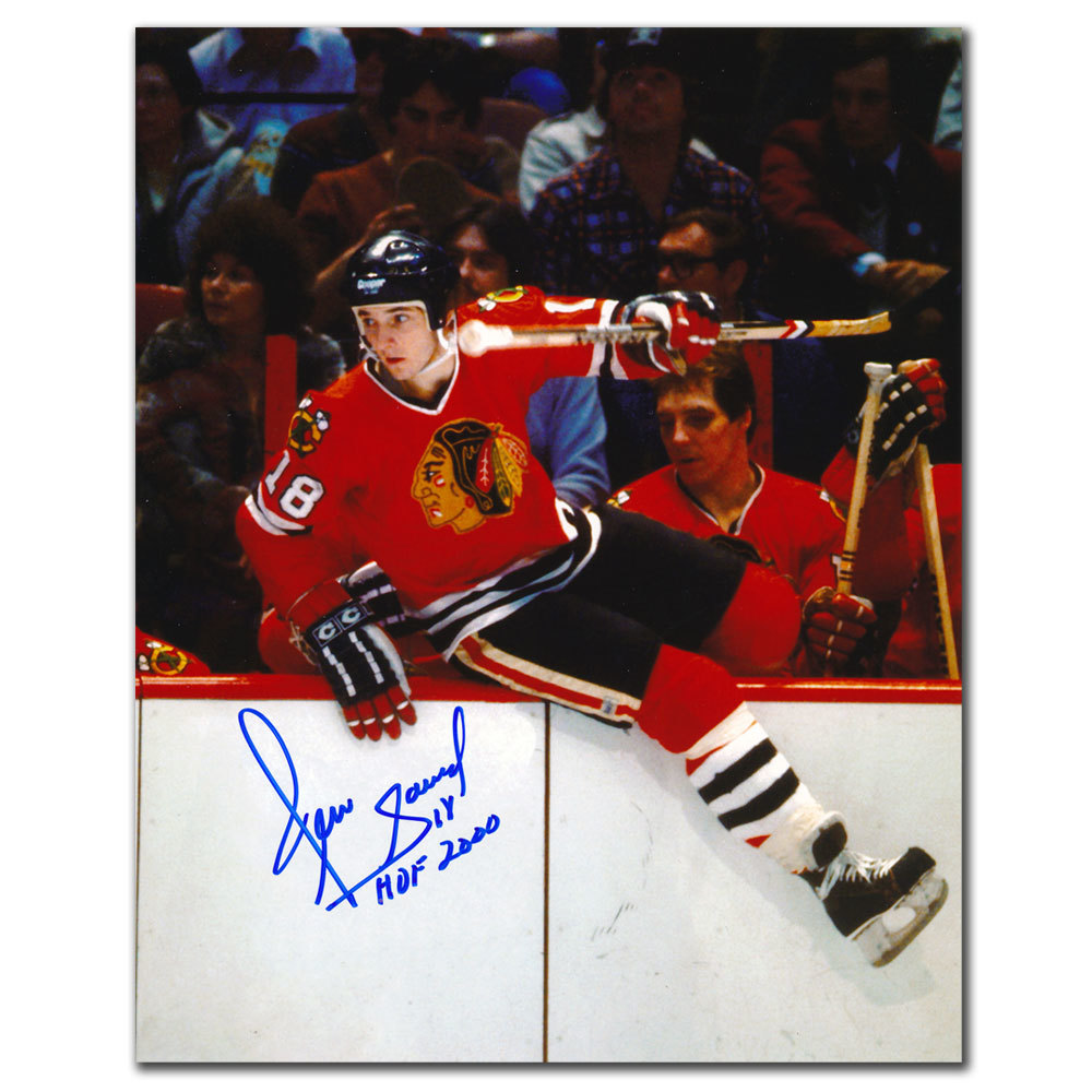 Denis Savard Chicago Blackhawks OVER THE BOARDS Autographed 8x10