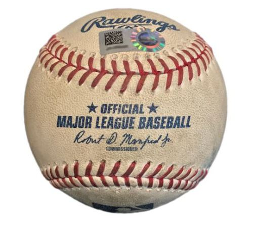 Photo of Game-Used Baseball from Pirates vs. Cardinals on 8/17/17 - Freese RBI Double, Frazier Hit by Pitch