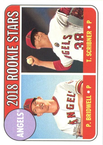 Photo of 2018 Topps Heritage #224 Parker Bridwell RC/Troy Scribner RC