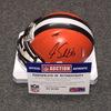 NFL - Browns Joe Schobert signed Browns mini helmet