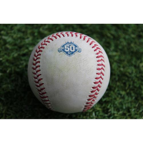 Photo of Game-Used Baseball: Jedd Gyorko 589th Career Hit and Greg Garcia Career Hit (STL @ KC - 8/12/18)