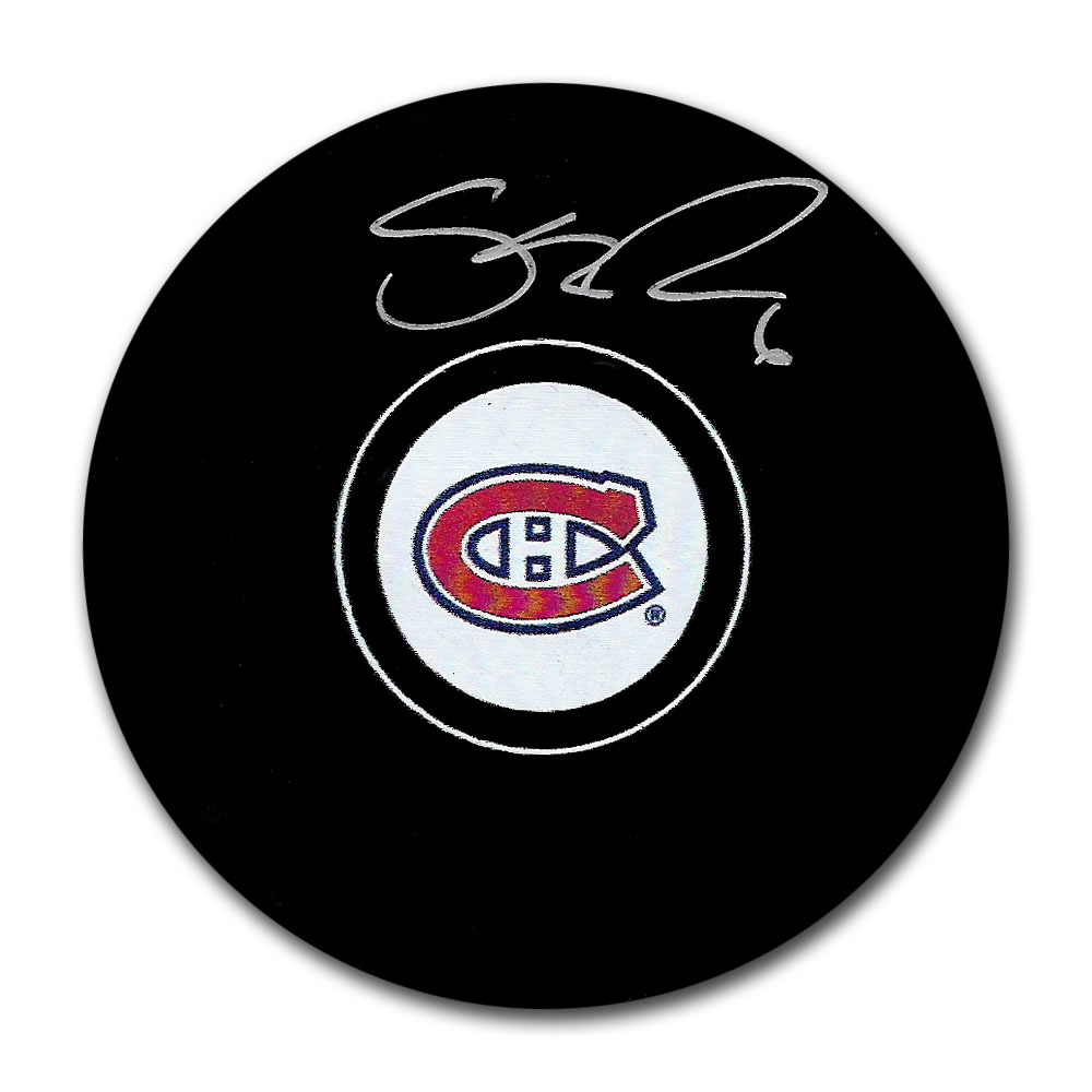 Shea Weber Autographed Montreal Canadiens Puck