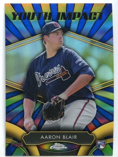Photo of 2016 Topps Chrome Youth Impact #YI18 Aaron Blair