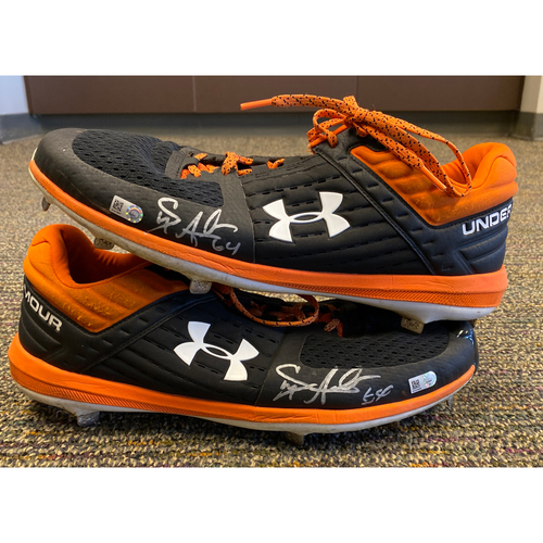 Photo of 2019 Autographed Cleats signed by #64 Shaun Anderson - Size 14