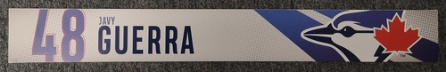 Photo of Authenticated Game Used Locker Name Plate: #48 Javy Guerra (2019 Regular Season)