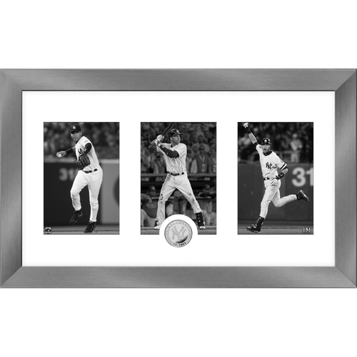 Photo of Derek Jeter 2020 HOF Induction Art Deco Silver Coin Photo Mint