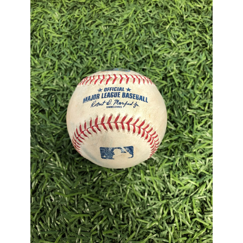 Photo of Game Used Baseball: Matt Barnes strikes out Joey Wendle and Kevin Kiermaier - September 21, 2019 v BOS