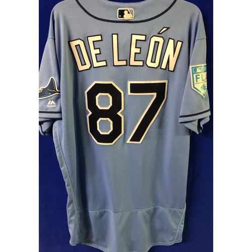 Photo of Team Issued Spring Training Jersey: Jose De Leon