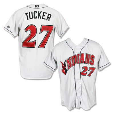 #27 Cole Tucker Autographed Game Worn Home White Jersey