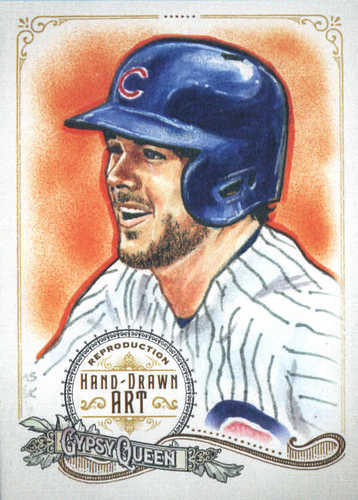 Photo of 2017 Topps Gypsy Queen Hand Drawn Art Reproductions #GQARKB1 Kris Bryant