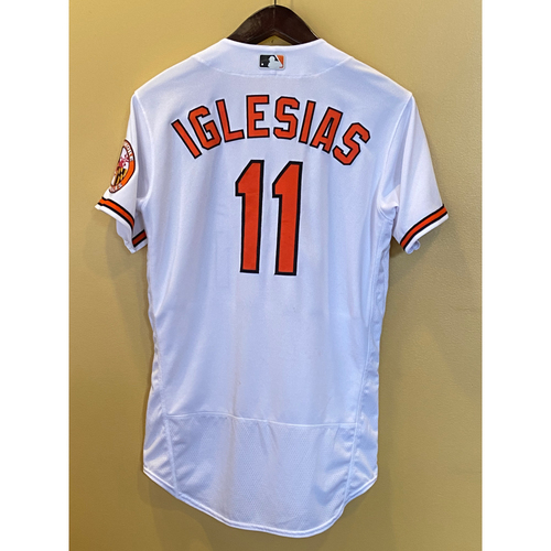 Photo of Jose Iglesias - Opening Day Home Jersey - Game-Used