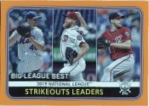 Photo of 2020 Topps Big League Orange #258 Max Scherzer/Jacob deGrom/Stephen Strasburg LL