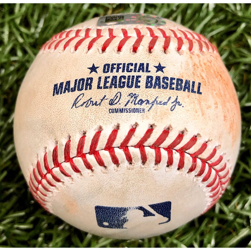 Photo of Game Used Baseball: Didi Gregorius ground out and Adam Haseley single off Diego Castillo - September 26, 2020 v PHI