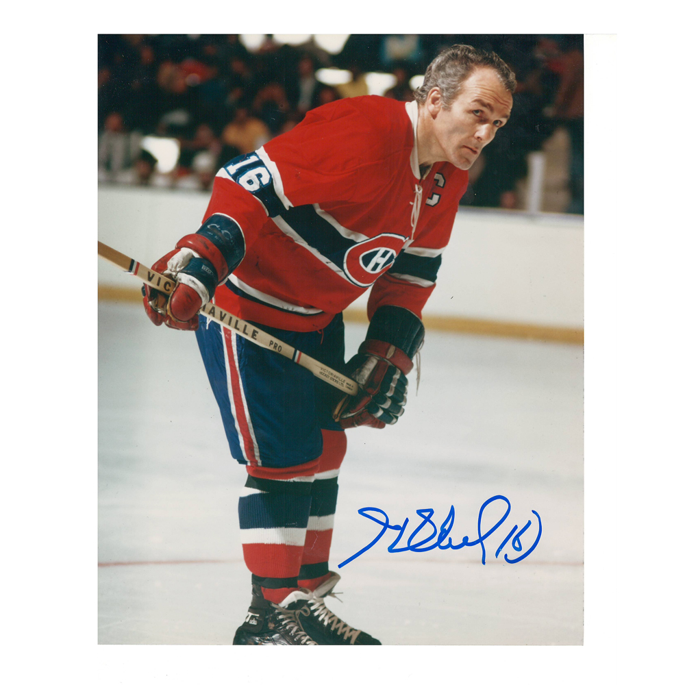 HENRI RICHARD Signed Montreal Canadiens 8 X 10 Photo - 70009