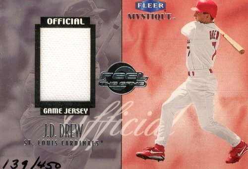 Photo of 1999 Fleer Mystique Feel the Game #2 J.Drew Jersey/450