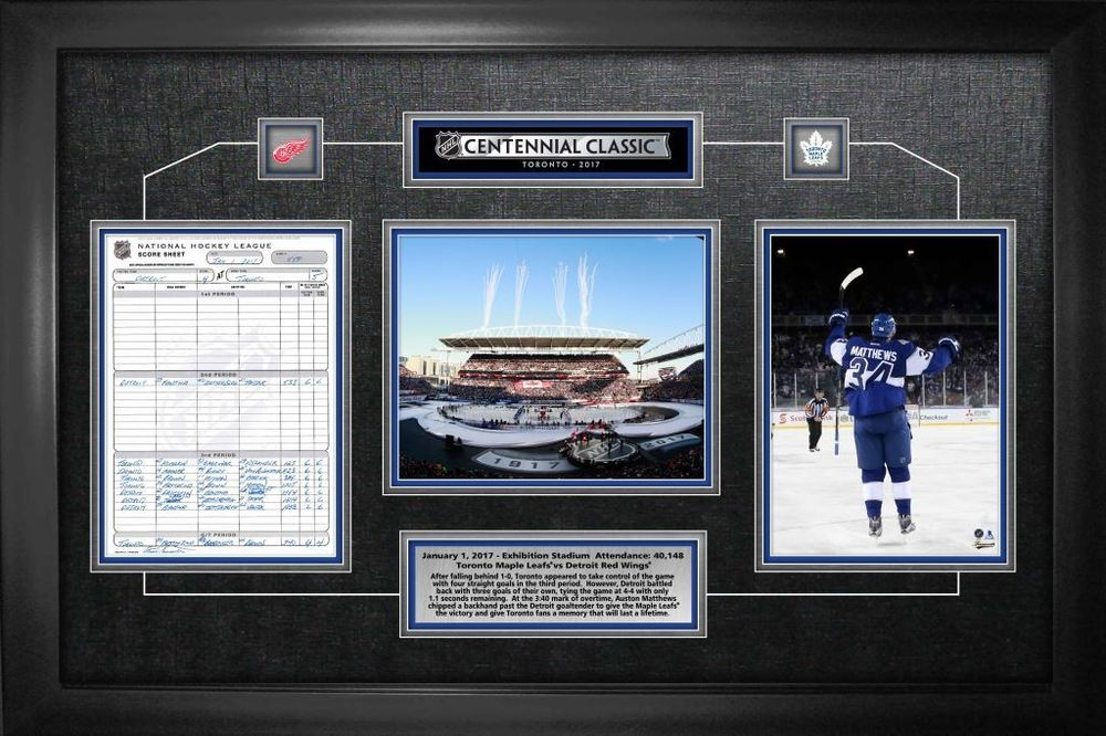 Centennial Classic - Framed Scoresheet Collage Toronto Maple Leafs