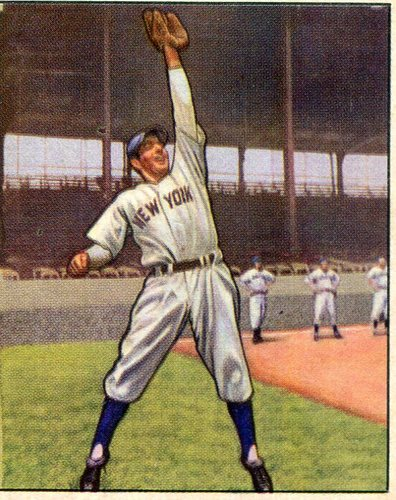 Photo of 1950 Bowman #11 Phil Rizzuto -- Hall of Famer
