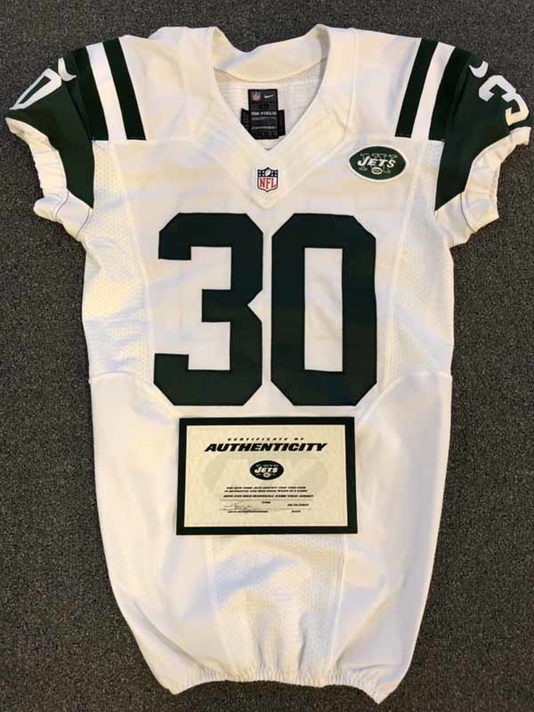 New York Jets - 2016 #30 Nick Marshall Game Worn Jersey