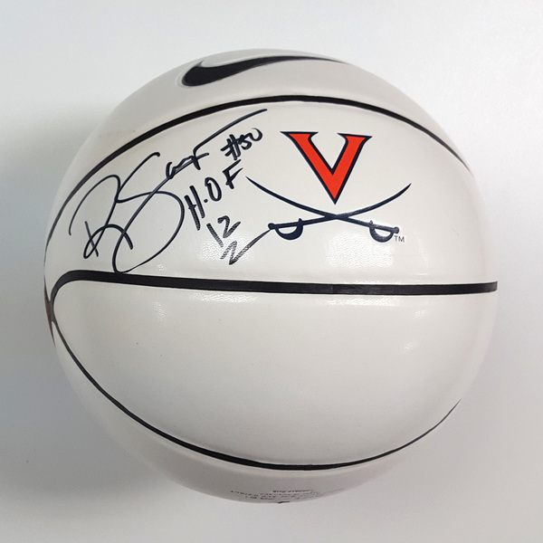 "Photo of Ralph Sampson Autographed Nike® University of Virginia Basketball ""#50 H.O.F. 12"""