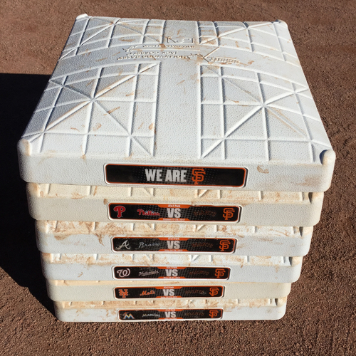 Photo of San Francisco Giants - 2017 Game-Used On-Field Base - NL East Teams