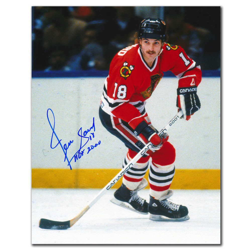 Denis Savard Chicago Blackhawks HOF Autographed 8x10