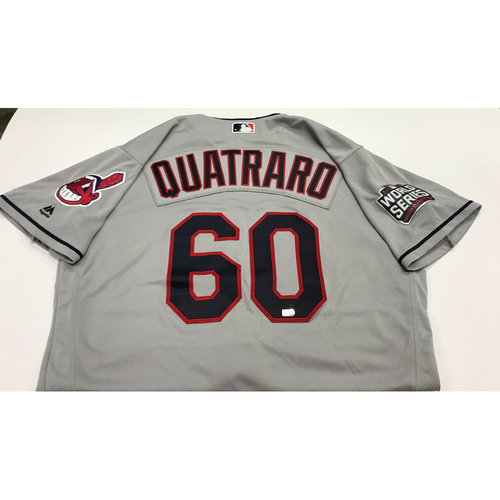 Photo of Matt Quatraro Team-Issued 2016 World Series Road Jersey