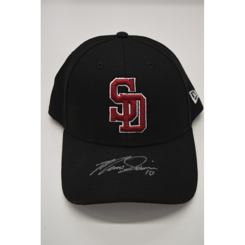 Photo of Marcus Semien #10 - Signed & Game-Used Marjory Stoneman Douglas High School Hat - CHARITY AUCTION