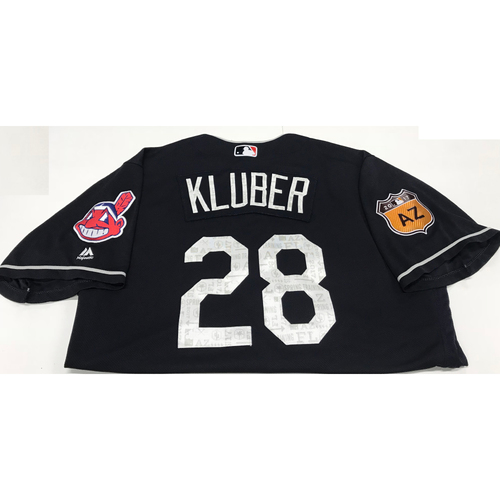 Photo of Corey Kluber 2017 Spring Training Jersey