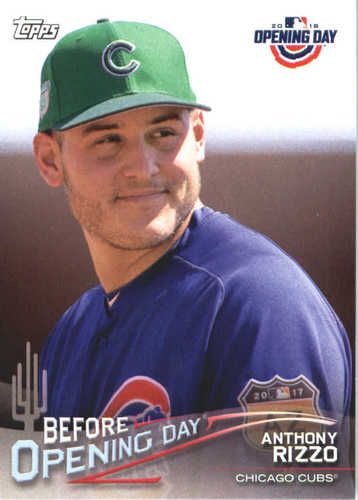 Photo of 2018 Topps Opening Day Before Opening Day #BODAR Anthony Rizzo
