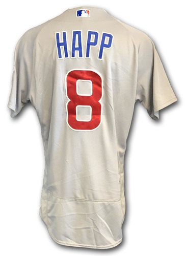 Photo of Ian Happ Game-Used Jersey -- Cubs at White Sox -- 9/22/18