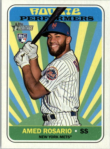Photo of 2018 Topps Heritage Rookie Performers #RPAR Amed Rosario