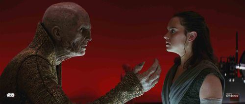 Rey and Supreme Leader Snoke