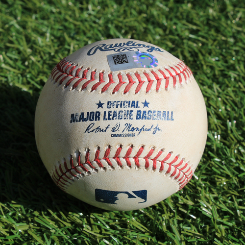 Photo of Game-Used Baseball: Brandon Lowe Foul (5/1/19 - TB @ KC)