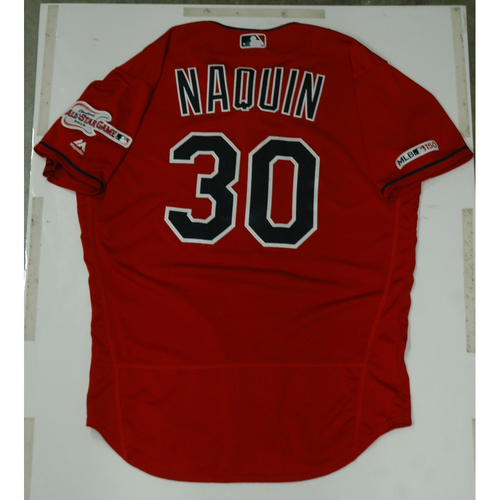 Photo of Tyler Naquin 2019 Team Issued Alternate Home Jersey