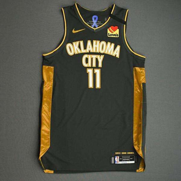 Image of Abdel Nader - Oklahoma City Thunder - Game-Worn City Edition Jersey - 2019-20 Season