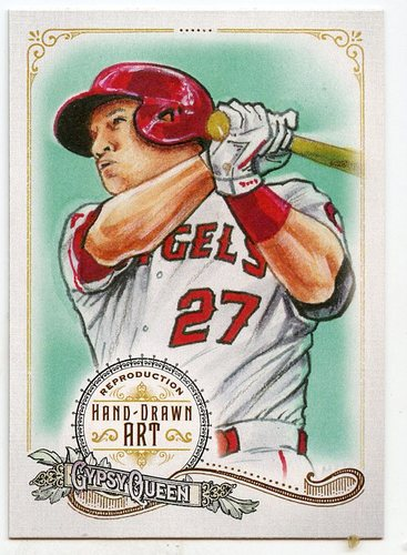 Photo of 2017 Topps Gypsy Queen Hand Drawn Art Reproductions #GQARMT2 Mike Trout
