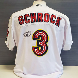 Photo of Max Schrock Autographed Game-Worn Memphis Redbirds 2019 Home Jersey