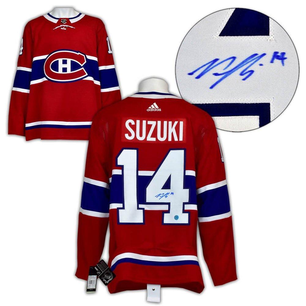 Nick Suzuki Montreal Canadiens Autographed Red Adidas Jersey