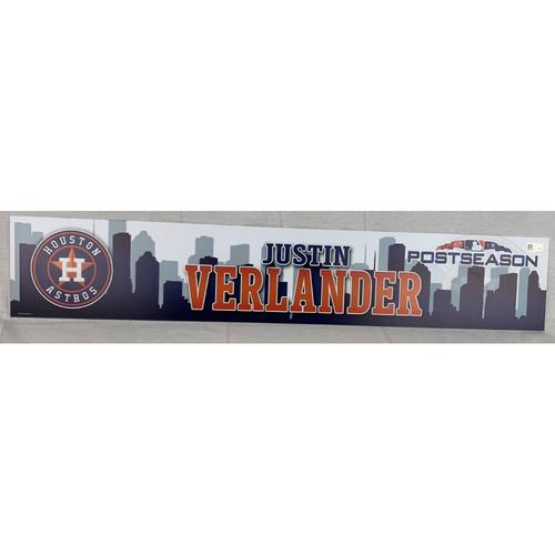 Photo of Justin Verlander 2018 Postseason Name Plate