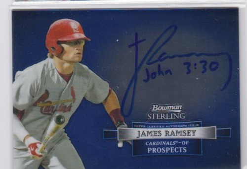 Photo of 2012 Bowman Sterling Prospect Autographs #JR James Ramsey