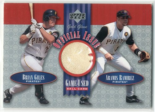 Photo of 2001 Upper Deck Gold Glove Official Issue Game Ball #OIGR Brian Giles/Aramis Ramirez