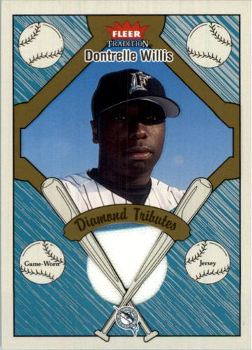Photo of 2004 Fleer Tradition Diamond Tributes Game Jersey #DW Dontrelle Willis