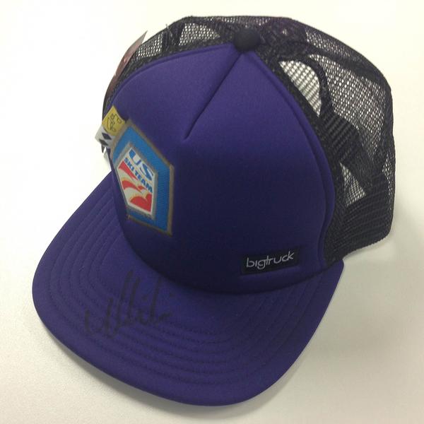 Photo of U.S. Ski Team Ballcap Signed by Mikaela Shiffrin - Dark Purple (3 of 4)