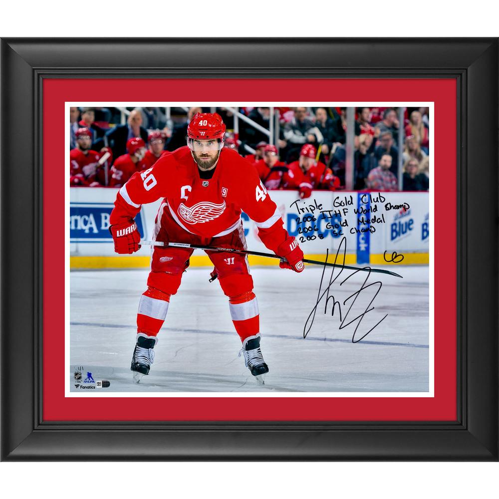 Henrik Zetterberg Detroit Red Wings Framed Autographed 16