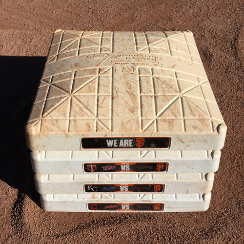 Photo of San Francisco Giants - 2017 Game-Used On-Field Base - AL Central Teams
