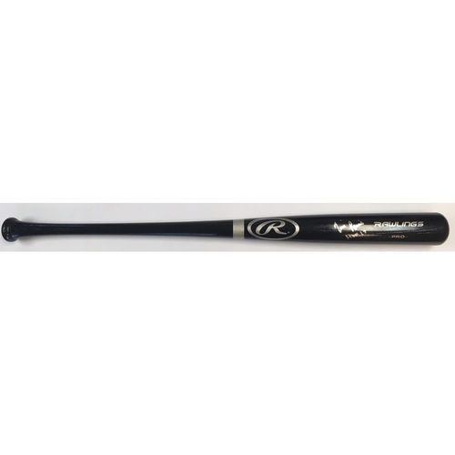 "Photo of Tim Raines ""HOF 17"" Autographed Rawlings Bat"