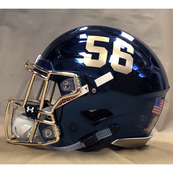 Photo of #56 Game Worn  Fear the Goat Army/Navy Game Football Helmet