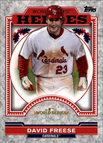 Photo of 2014 Topps Update World Series Heroes #WSHDF David Freese