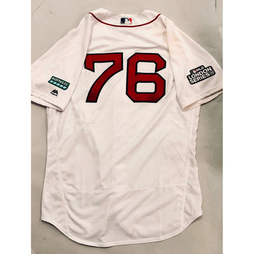 Photo of 2019 London Series - Game-Used Jersey - Hector Velazquez, New York Yankees vs Boston Red Sox - 6/29/19