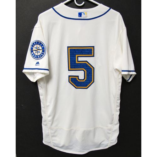 Photo of Seattle Mariners Braden Bishop Game-Used Marineros Jersey (Salute to Latin American) 9-15-2019